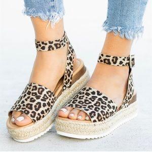 Shoes - Leopard Espradille Sandal💫